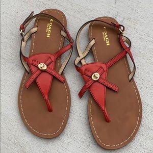 Coach 7.5 Camera Slingback Sandals